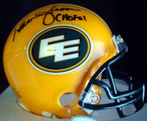 "Warren Moon Autographed Edmonton Eskimos Mini Helmet """"CHOF 01"""" PSA/DNA ITP"