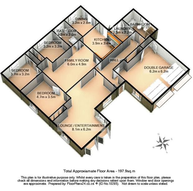 3D - 3 Bedroom - 197 sq.m - FloorPlans24 delivers a solution that works for YOU – Talk to us…