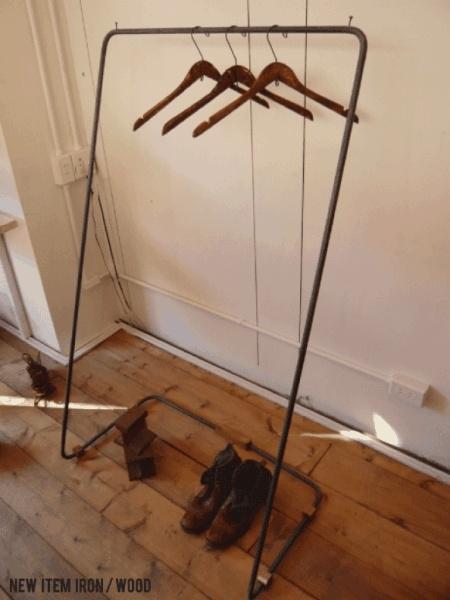 Wood Hanger ハンガーラック 古木 アイアン レトロ アンティーク 什器. インテリア 雑貨 家具 Antique ¥29800yen 〆06月15日