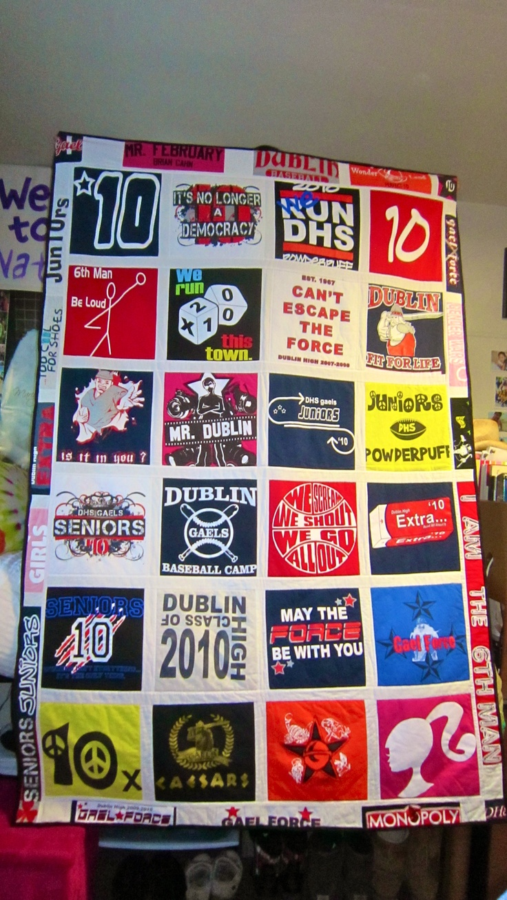 DIY t-shirt quilt. Needy and poor people don't need my band tees. I shall hoard them