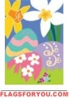 Applique - Eggs & Daffodils Garden Flag