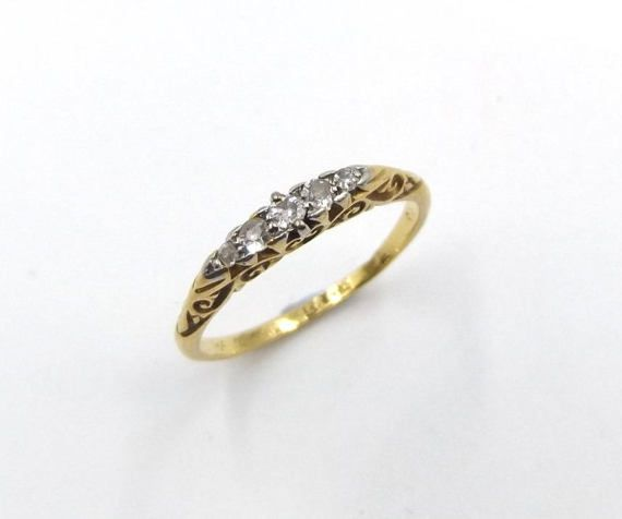 quitokeeto band eternity vintage diamond bands products antique