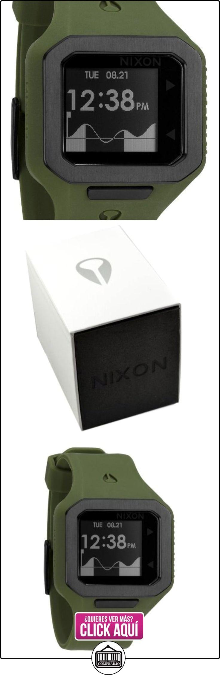 Nixon A3161085-00 - Reloj digital de cuarzo para hombre con correa de silicona, color verde  ✿ Relojes para hombre - (Gama media/alta) ✿ ▬► Ver oferta: http://comprar.io/goto/B008DG4YQE