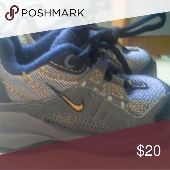Baby boy Nike size 3 shoes Perfect condition size 3 baby boy Nike's Nike Shoes Sneakers