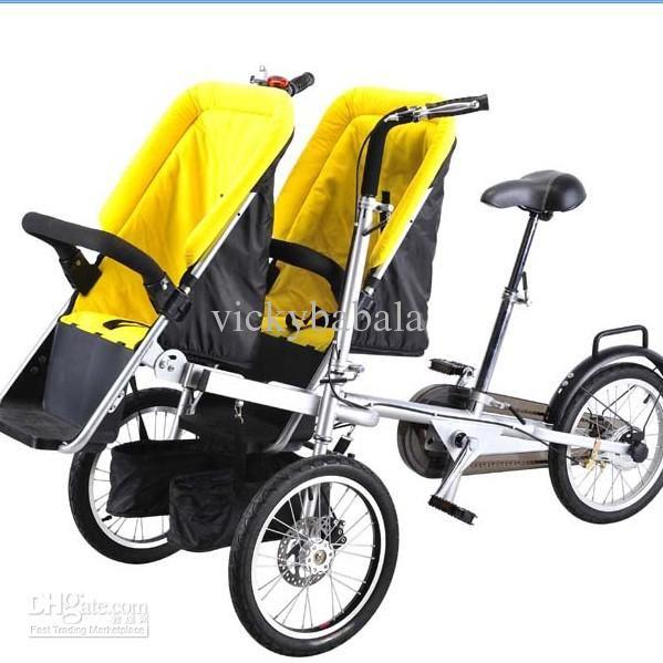 Bébé en gros, enfants et maternité - Acheter New Twins du produit et sa mère poussette vélo, jumeaux et maman de vélos, 1pc libèrent le bateau expédition libre, 673,91 $   DHgate