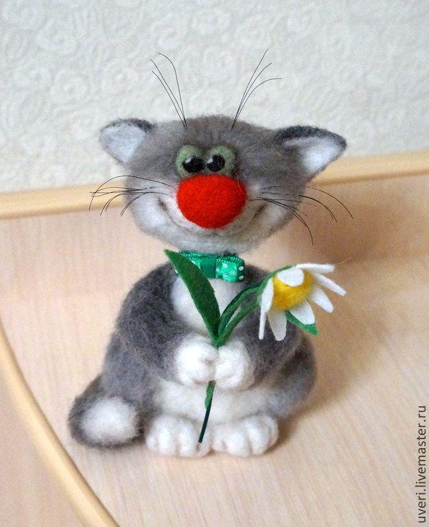 Купить Мартовский кот (В ожидании марта) - серый, коты, подарок ко дню влюбленных