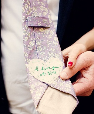 For the wedding tie