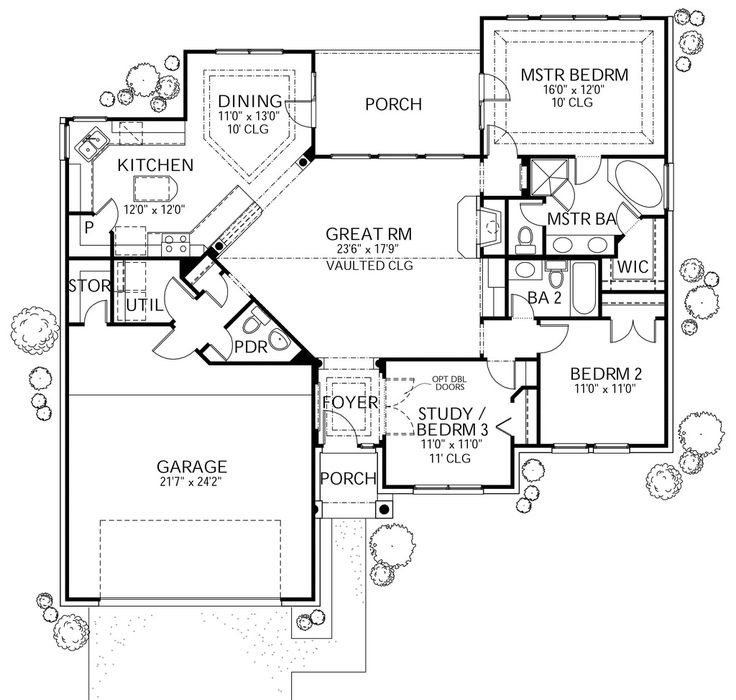 Traditional style house plan 3 beds 2 5 baths 1561 sq ft for Traditional mansion floor plans