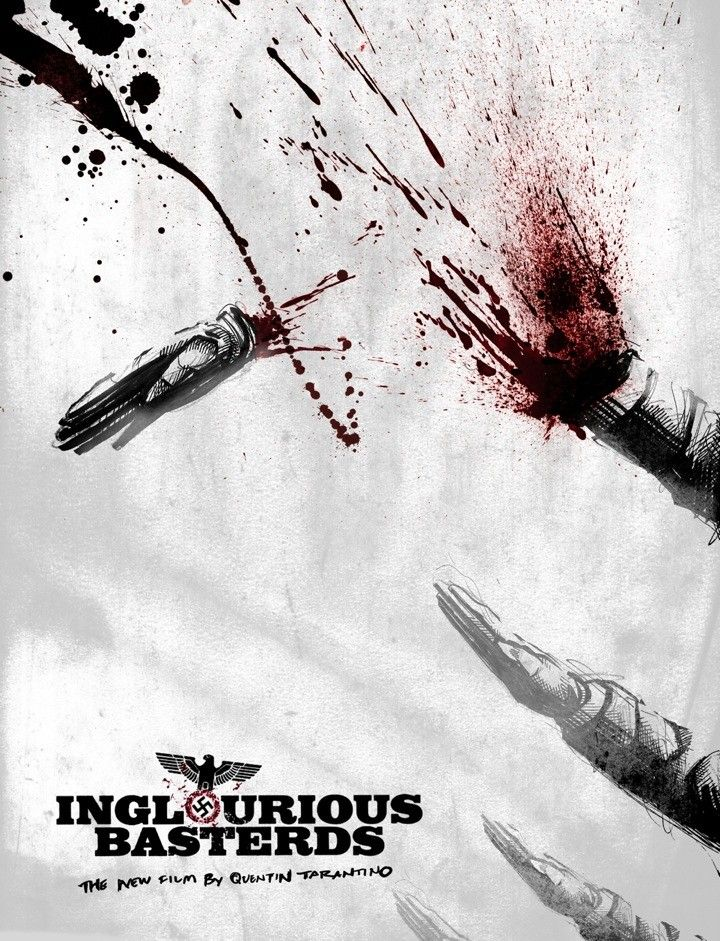 Inglorious Basterd (see more on http://www.tranchesdunet.com/affiches-de-films-revisitees/ )