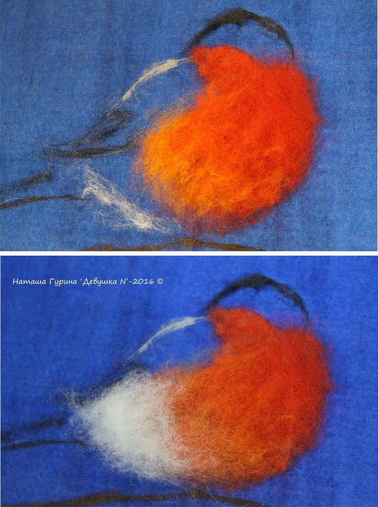 """Как свалять картину в технике """"Шерстяная акварель"""" - Ярмарка Мастеров - ручная работа, handmade"""
