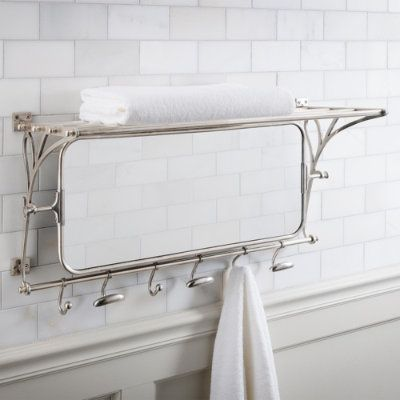 Metal Towel Rack With Mirror This Is So Pretty I Had One In Ivory