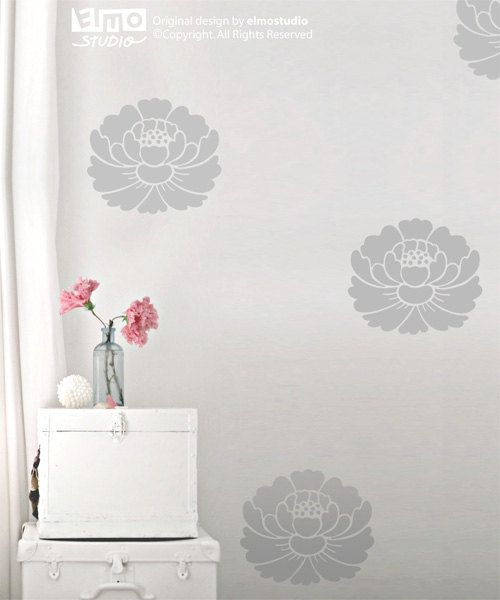 Lotus Flower Wall Decals Zen Home Decor Floral Wall by LivingWall