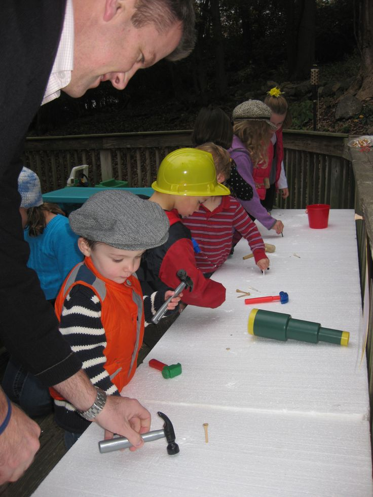 Construction Party Entertainment Golf Tees Hammered Into Styrofoam The Kids Loved It