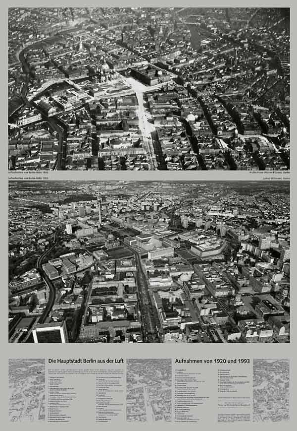 Doppelluftbild Die Hauptstadt Berlin aus der Luft 1920 / 1993