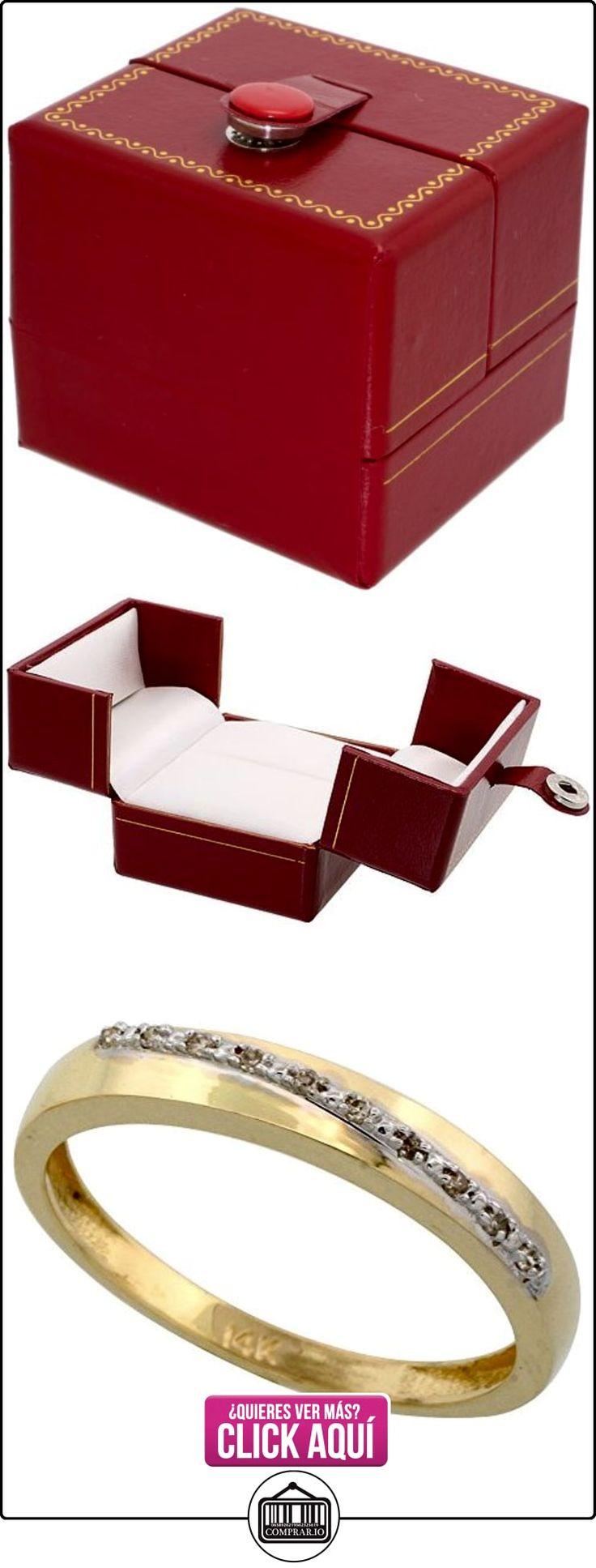 Revoni - Juego de alianzas de oro amarillo con diamante  ✿ Joyas para hombres especiales - lujo ✿ ▬► Ver oferta: http://comprar.io/goto/B005M38SFO