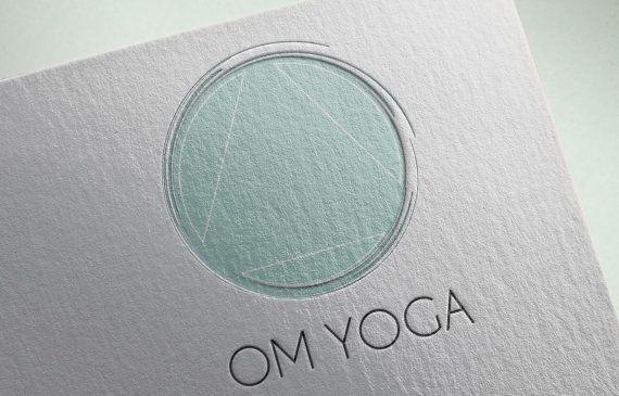 Logo personnalisé - Yoga bien-être Logo - Logo géométrique - Minimal Logo - Business Logo Design