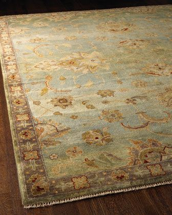 Blue Small Border Rug   Horchow