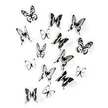 Umbra Chrysalis Muurdecoratie Set van 15 - Zwart/Wit