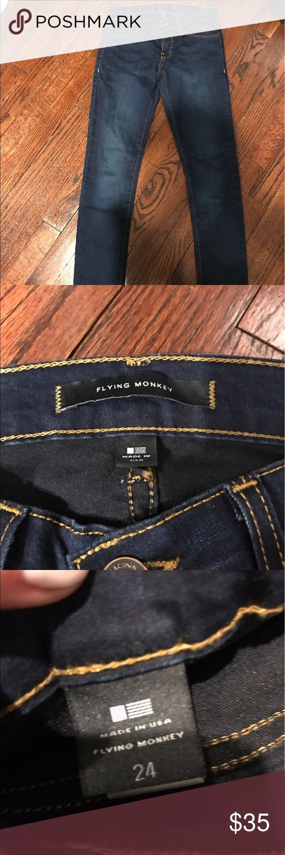 Flying Monkey jeans Solid blue Flying Monkey jeans. Super comfortable!! Jeans Skinny