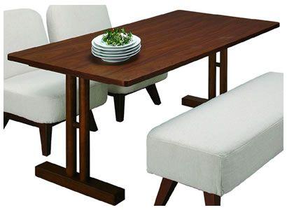 リビングダイニング兼用テーブル(高さ60cm)/天然木アッシュ突板(ブラウン)[幅150x奥行75]|ルッカ ダイニングテーブル|AB-CL-63TBR|CL-63TBR