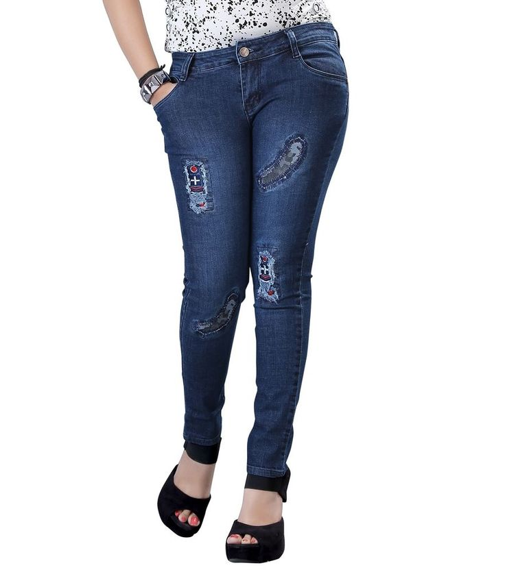 Fasdest Ladies/Women Stretchable Slimfit funkylook Stylish Denim Jeans