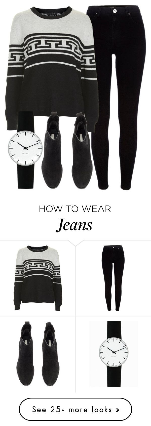 """Untitled #4690"" by laurenmboot on Polyvore featuring River Island, Topshop, H&M and Rosendahl"