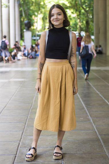 Looks do Rio - Gola Alta  Em minha opinião a saia poderia ser de outra cor! Mais ficou tudo em seu encaixe!!!!!!