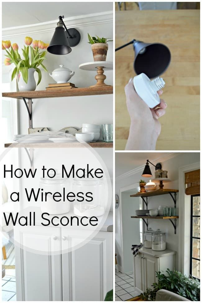 How To Make A Diy Wireless Wall Sconce Wireless Wall Sconce Diy Sconces Sconces Living Room #wireless #ceiling #light #for #living #room