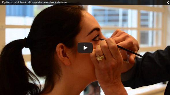 Vandaag een video waarin Monique laat zien hoe je eyeliner op vijf verschillende manieren kunt aanbrengen. Van subtiel tot de perfecte dubbel wing.