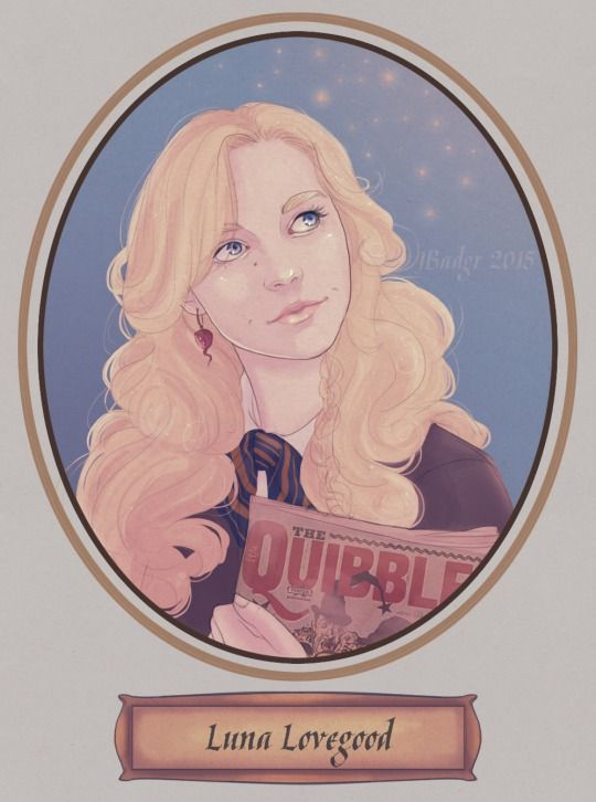 Luna Lovegood. Artwork By Jess aka JBadgr
