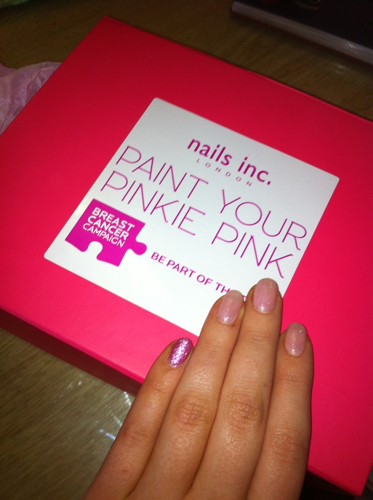 Paint your pinkie pink in Sorcha, London.   What and easy way to start the conversation about breast cancer