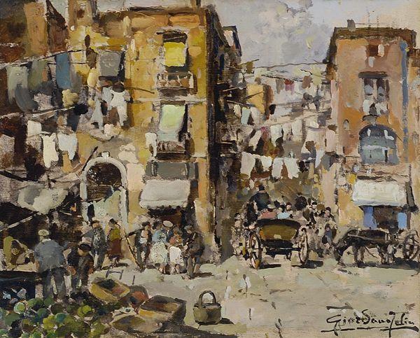 Periferia di Napoli, 1946 by Felice Giordano (Napoli 1880 - Capri 1964)