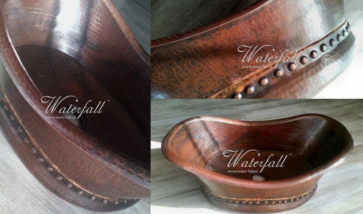 měděné umyvadlo na desku #coppersink #umyvadla http://www.water-fall.cz/cz/koupelnove-baterie-luxusni-kuchynske/umyvadla/medena-umyvadla/