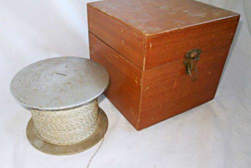 Vintage NORMA NAUTILUS Kipnis Electric Fishing Reel Large Spool 18/0 Natural Alu