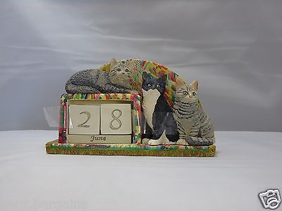 Ivory Cats Lesley Anne Ivory 2004 Mantle Calendar  Ornament Date  in Collectables, Animals, Cats | eBay