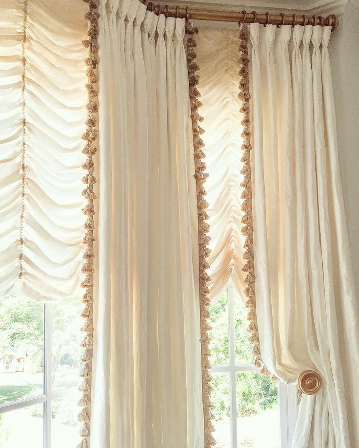 Tasseled Drapery Details By Anne Wagoner Interiors Annewagonerinteriors Draperies Tassels Curtains Elegant