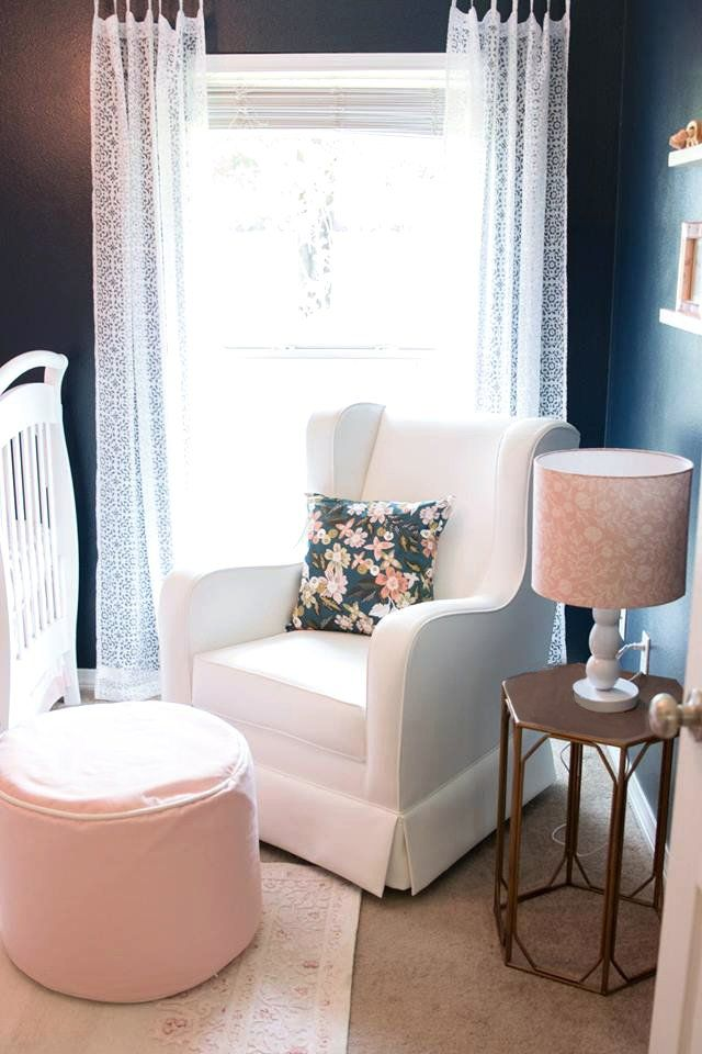 When I first started designing the space I knew I wanted the traditional blush pinks and white for Holland's (my second baby girl) nursery, but I also wanted a