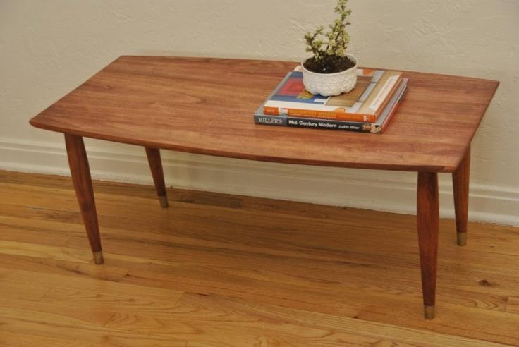 Meados do século Surfboard Estilo Coffee Table | DesignTrevi Projeto Vintage Trevi Vintage