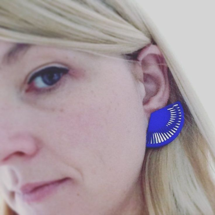 These favs today...#cobalt #blue #earrings #silver #mirrored Lynne Maclachlan