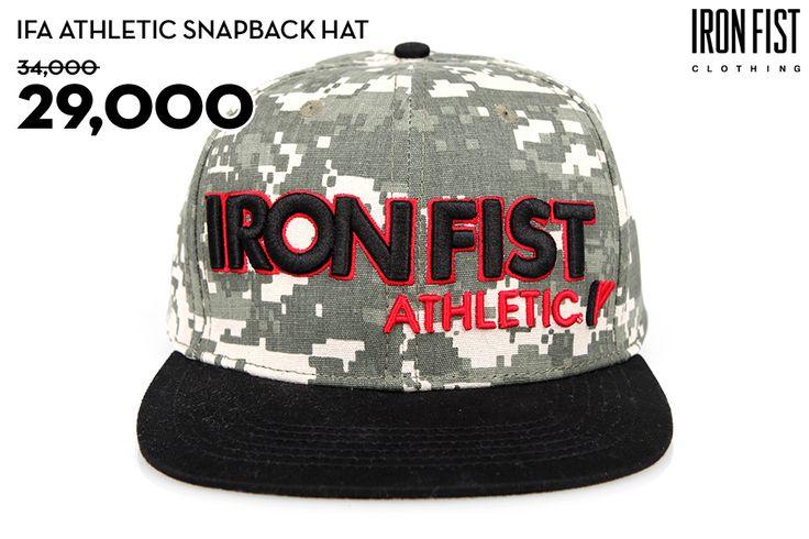 IFA ATHLETIC SNAPBACK HAT (CAMO) / 34,000원 → 29,000원 http://www.ironfist.co.kr/shop/goods/goods_view_athletic.php?goodsno=433  #ironfist #아이언피스트 #athletic #운동 #건강 #피트니스 #스포츠 #모자 #스냅백