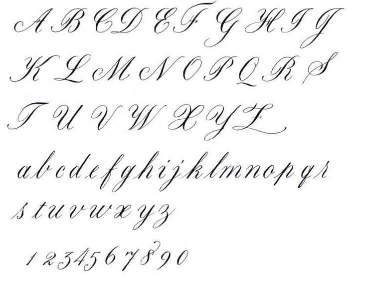 Copperplate Handwriting Worksheets alphabet in writing script 1 -- and a lot of other resources