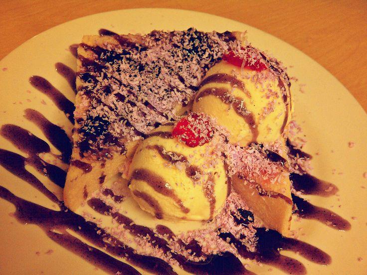 Rainbow sandwich ice cream dari Dapur Sandwich :9