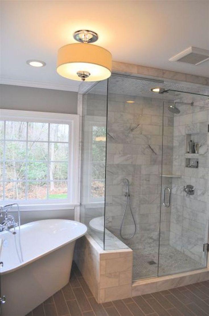 80 best farmhouse tile shower ideas remodel (5