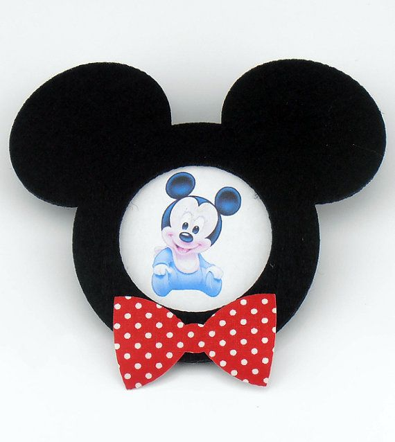 Felt Mickey Mouse Shaped Frame with Magnet For Your by KeceSus