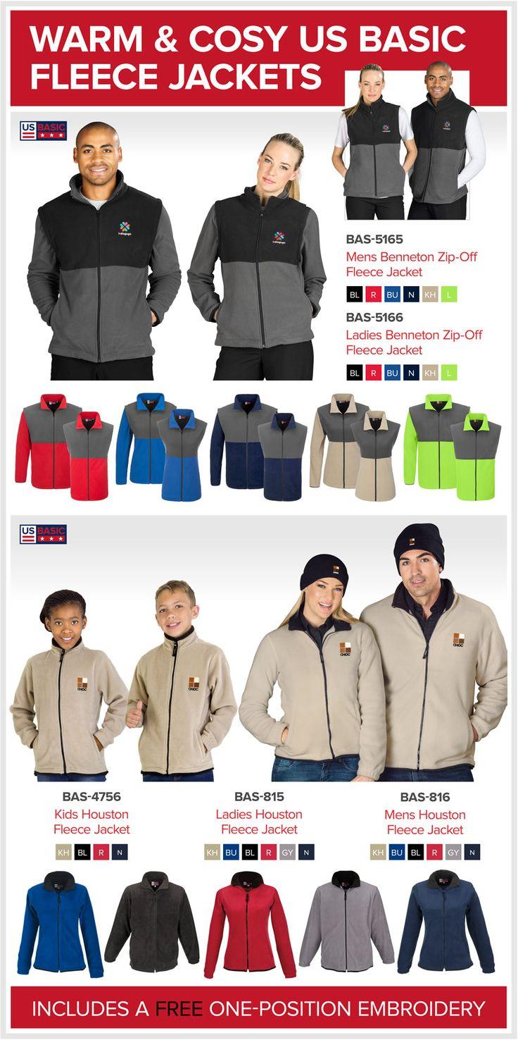Warm & Cosy US Basic Fleece Jackets #BrandedClothing linda@lindajacobspromotions.co.za 083 6280181 021 5572152