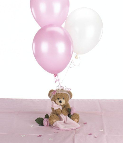 Teddy Bear Baby Shower for Girls - Blankie Bear Balloon Centerpiece & Table Decorations Package $28.50 Baseball, Golf & Soccer Themes also available!