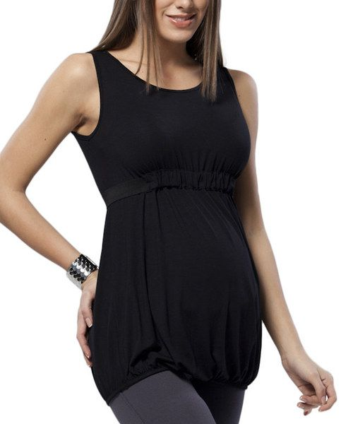 Easy, breezy and effortlessly elegant, this bump-friendly beauty is a sweet staple. Boasting a casually sophisticated silhouette and stretch from elastane, this pretty piece is cut to flatter the figure and beautify the belly.96% modal / 4% elastaneMachine washImported