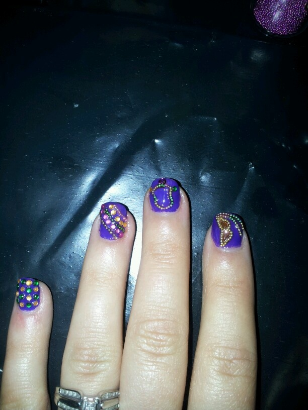 The 119 best Mardi Gras Nail Art images on Pinterest | Nail art ...