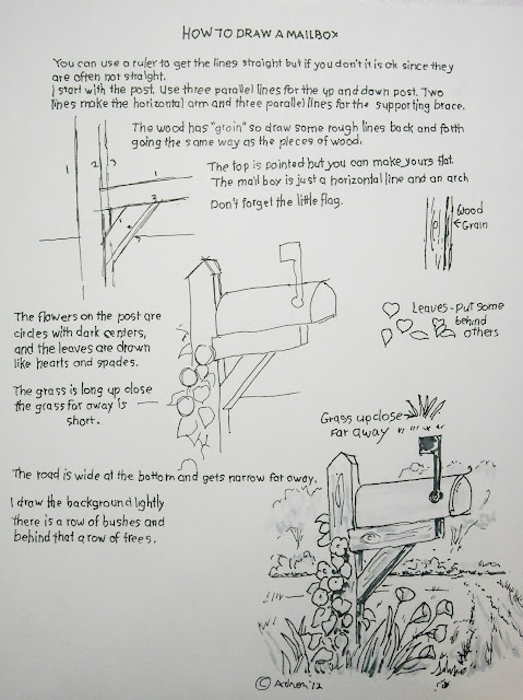 How to draw a rural mailbox. An easy drawing lesson for young artist you can see it at :http://drawinglessonsfortheyoungartist.blogspot.com/2012/05/how-to-draw-mailbox-easy-worksheet.html