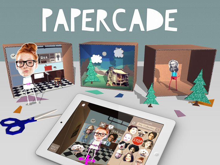 Say hello to scrapgaming and make original mini-game dioramas on your iPad! www.papercade.com